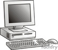 computer computers cpu pc business electronics digital monitor monitors  pc9 clip art business computers  gif, jpg