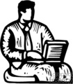 black and white computer programmer