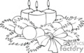 christmas xmas winter candles   spel201_bw clip art holidays christmas  gif