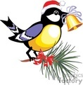 christmas xmas holidays bird birds bell   christmas05-021 clip art holidays christmas  gif, jpg, eps