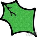 Single Green Holly Leaf