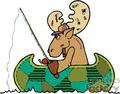 moose in a canoe fishing gif, jpg, eps