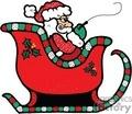 santa in his sleigh gif, jpg, eps