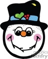 Happy Snowman Face Smiling