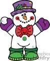 snowman holding a snowball