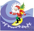 christmas xmas holidays surf surfing tropical santa claus   surfing_santa-008 clip art holidays christmas  gif, jpg, eps