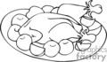Spel235_bw vector clip art image