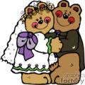 bride and groom bears