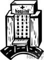 black and white hospital