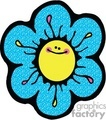 cartoon flower with a smile