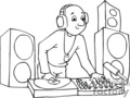 cartoon DJ
