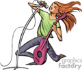 occupations work working occupational singer singers musician musicians   working_029-c clip art people occupations  gif