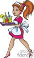 cute waitress server drinks