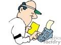 Cartoon book keeper