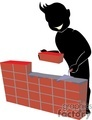 shadow people work working occupations brick bricks wall layer   occupation001 clip art people occupations