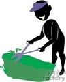 shadow people work working occupations cutting grass landscaping lawn care trimming   occupation005 clip art people occupations  gif, jpg, eps