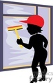 cartoon window cleaner gif, jpg, eps