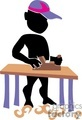 shadow people work working occupations carpenter carpenters shaving wood   occupation079 clip art people occupations  gif, jpg, eps