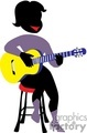 shadow people work working occupations musician music guitar guitars acoustic   occupation089 clip art people occupations  gif, jpg, eps