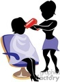 shadow people work working occupations shop barber blow blowdryer dryer hair salon beauty   occupation095 clip art people occupations  gif, jpg, eps