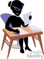 shadow people work working occupations test testing education school student students class teacher grading grades   occupation101 clip art people occupations
