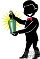 shadow people work working occupations bartender bartenders bottle bottles alcohol   occupation135 clip art people occupations