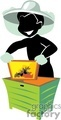 shadow people work working occupations bee keeper bees honey   occupation145 clip art people occupations  gif, jpg, eps