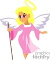 angel with a pink robe