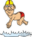 cartoon diver character