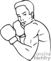 boxing boxer boxers   sport168_bw clip art sports boxing  gif