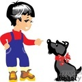 a little boy training a dog gif, png, jpg, eps