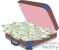 briefcase full of money gif, png, jpg, eps