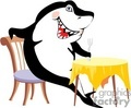 A shark at the dinner table