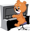 Teddy bear playing piano