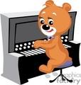 Teddy bear playing piano