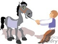 people occupations work working clip art horse horses man pulling stuborn stubborn cartoon funny