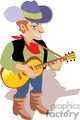 people occupations work working clip art country music cowboy cowboys singer entertainer gif, png, jpg, eps