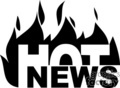 Hot news with flames