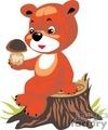 teddy bear teddybear teddybears bears toy toys stuffed nature muhroom muhrooms wild tree stump stumps gif, png, jpg, eps
