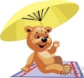teddy bear teddybear teddybears bears toy toys stuffed summer beach umbrella vacation relax relaxing gif, png, jpg, eps
