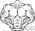 muscle body mascot