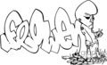 graffiti tag tags word words art vector clip art graphics writing city vinyl vinyl-ready signage black white ready cutter