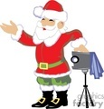 Santa Claus Taking a Picture