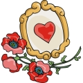 red roses laying next to a mirror. gif, png, jpg
