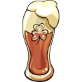 three leaf clover glass of beer gif, png, jpg