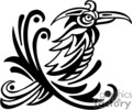 Black and white tribal pheonix