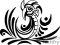 black and white tribal art of roosting bird gif, png, jpg, eps