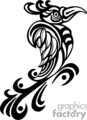 Black and white tribal bird right-facing