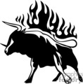 animal animals flame flames flaming fire vinyl-ready vinyl ready hot blazing blazin vector eps gif jpg png cutter signage black white bull bulls