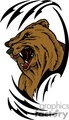 predator predators animal animals wild vector signage vinyl-ready vinyl ready cutter color bear bears brown grizzly tattoo tattoos design designs gif, png, jpg, eps